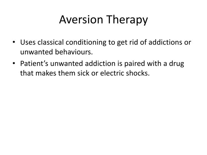 Aversion therapy1