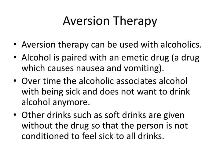 Aversion therapy2