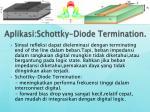 aplikasi schottky diode termination