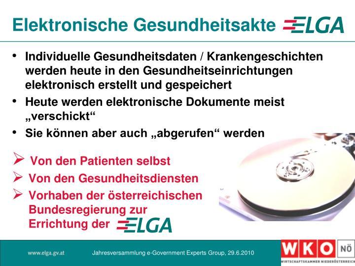 Elektronische Gesundheitsakte