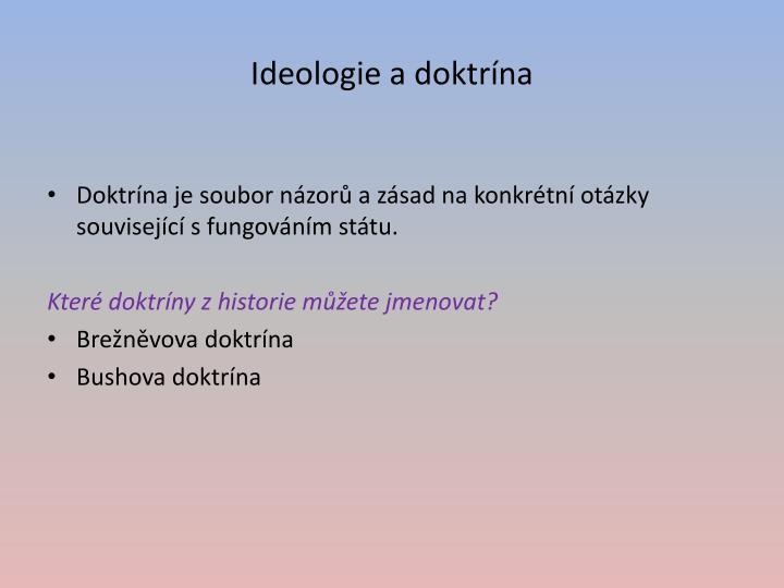 Ideologie a doktrína