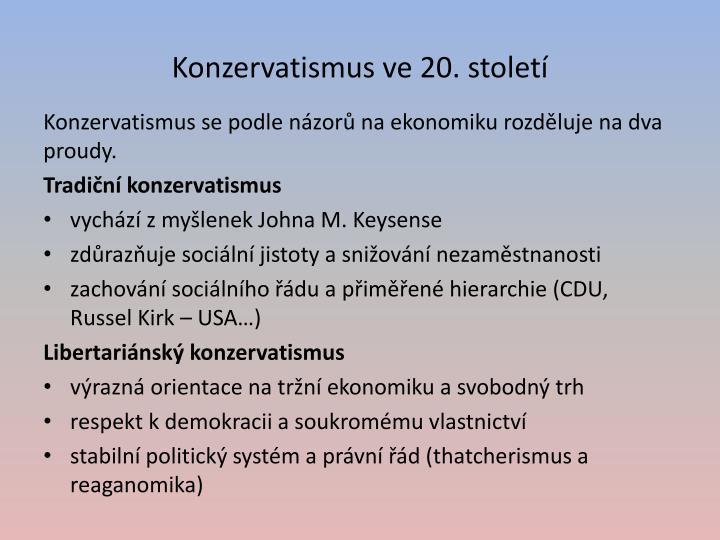 Konzervatismus ve 20. století