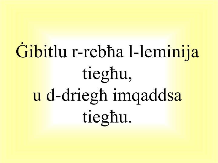 Ġibitlu r-rebħa l-leminija tiegħu,