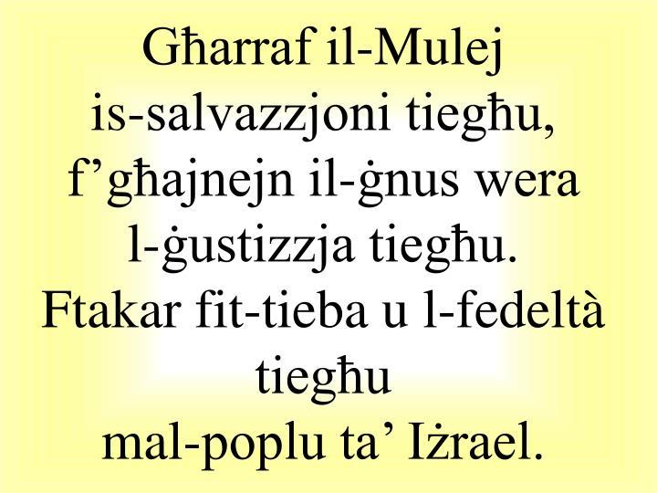 Għarraf il-Mulej