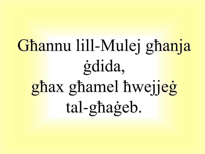 Għannu lill-Mulej għanja ġdida,