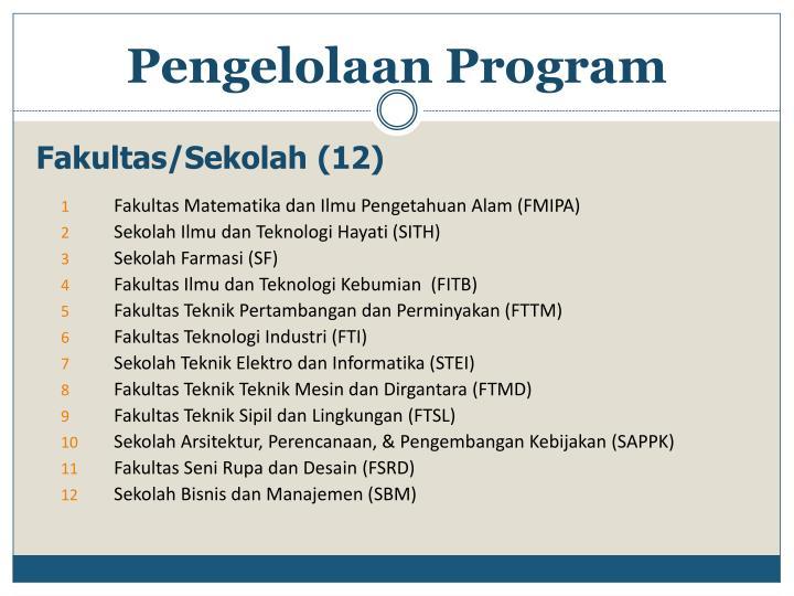 Fakultas/Sekolah (12)