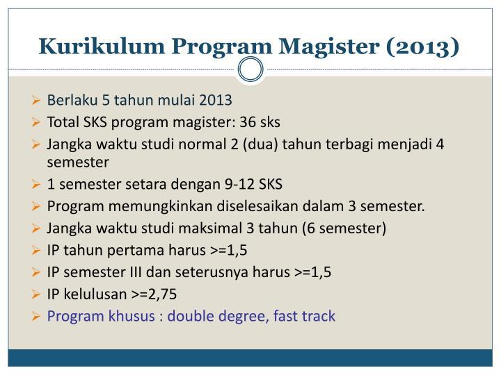 Kurikulum Program Magister (