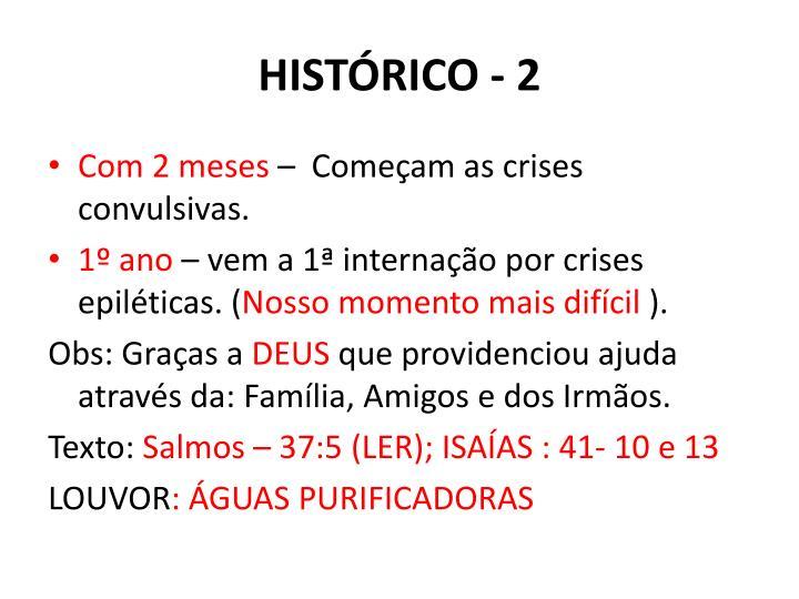 HISTÓRICO - 2