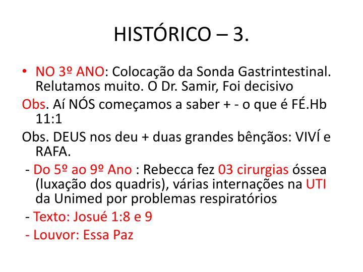 HISTÓRICO – 3.
