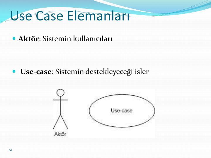Use Case Elemanları