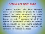 octavas de newlands