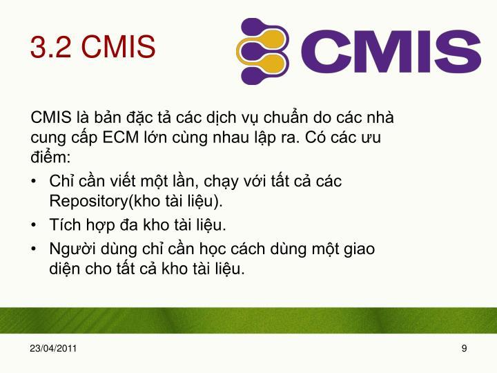 3.2 CMIS
