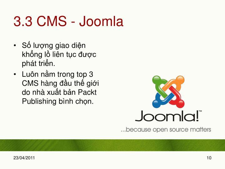 3.3 CMS - Joomla