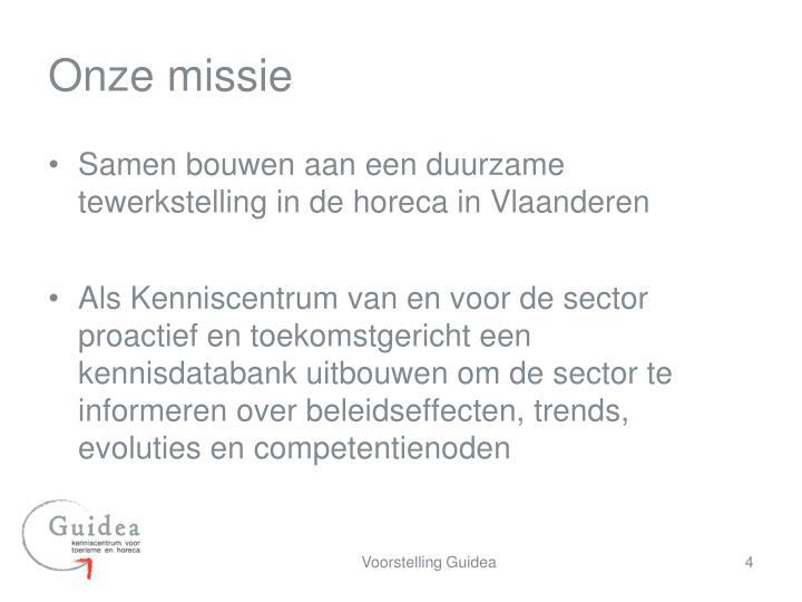 Onze missie