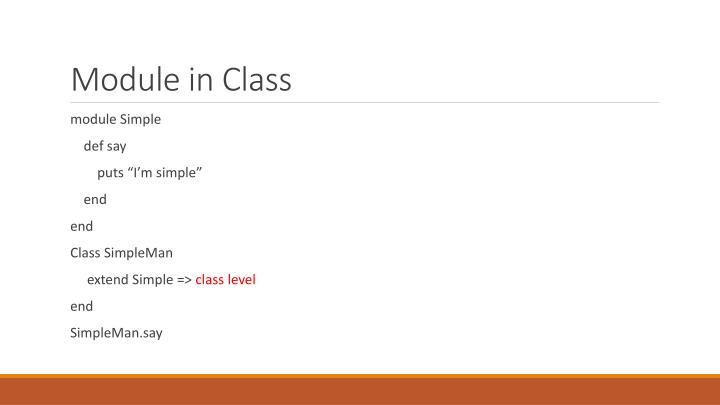 Module in Class
