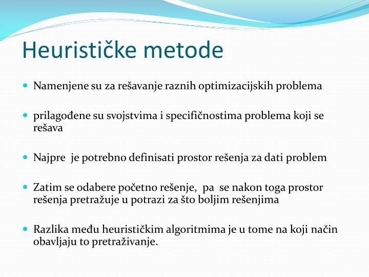 Heurističke metode