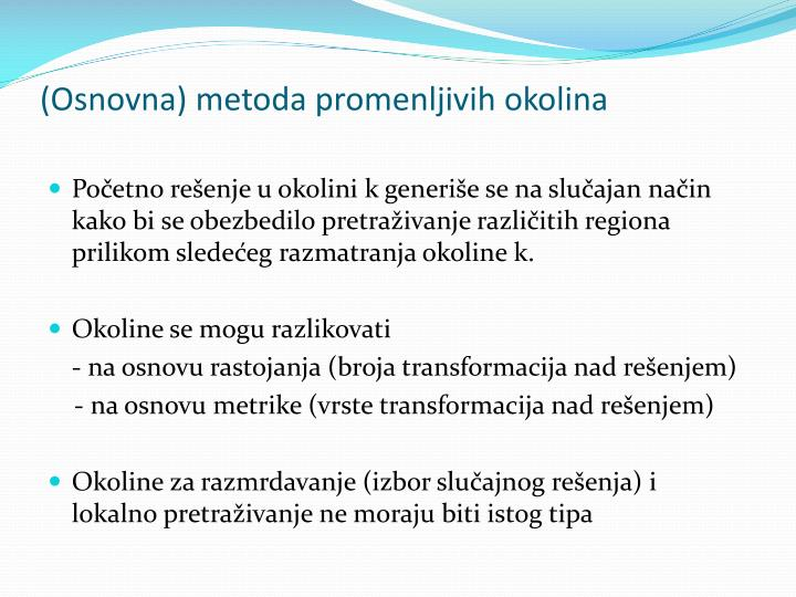 (Osnovna) metoda promenljivih okolina