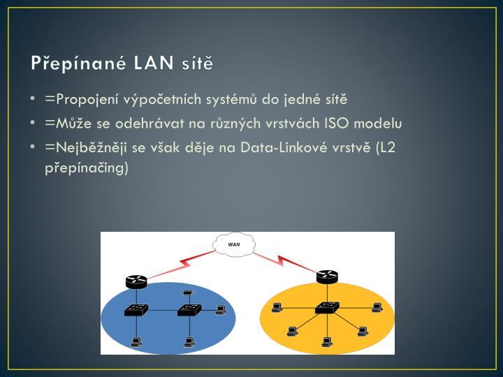 Přepínané LAN sítě