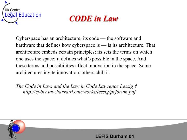 Code in law