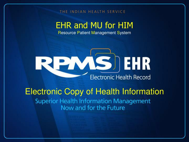 Electronic copy of health information