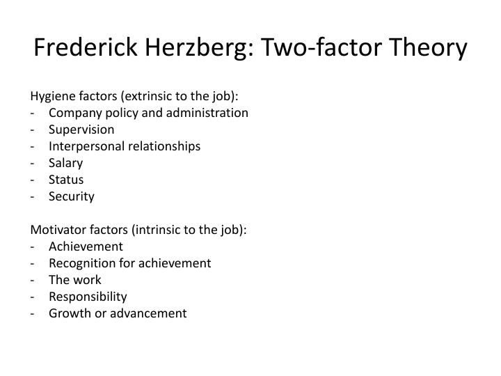 Frederick Herzberg: Two-factor Theory