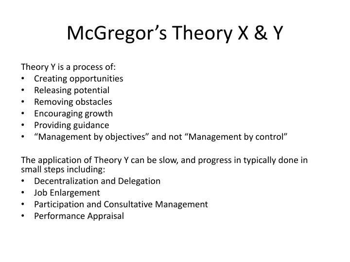 McGregor's Theory X & Y