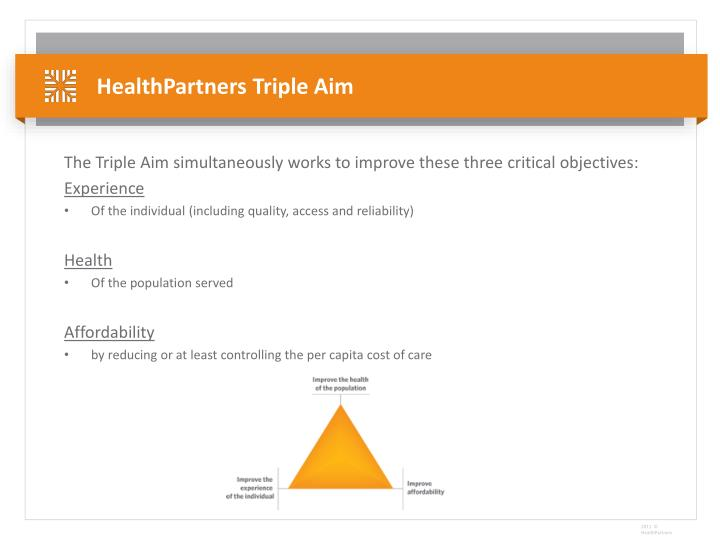 Healthpartners triple aim