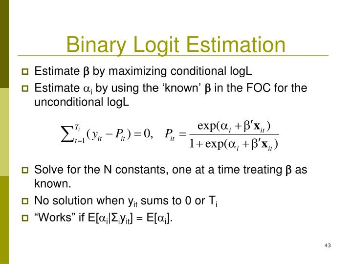 Binary Logit Estimation