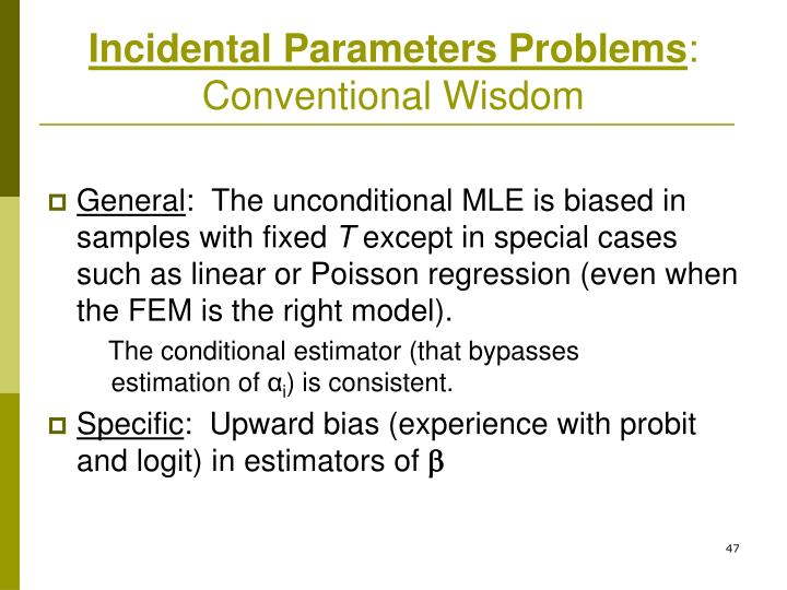 Incidental Parameters Problems
