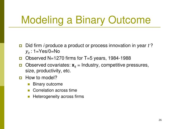 Modeling a Binary Outcome