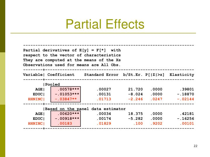 Partial Effects