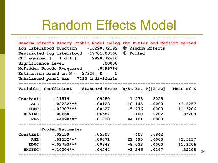 Random Effects Model