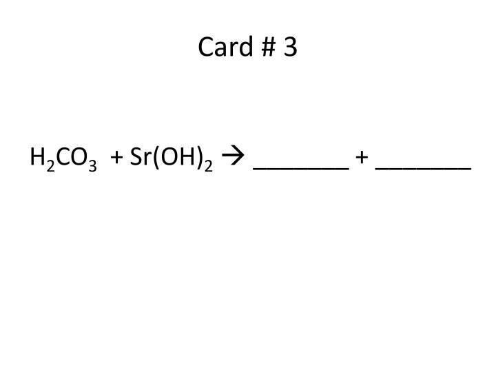 Card # 3