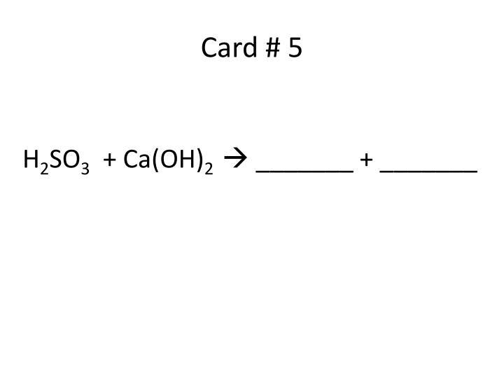 Card # 5