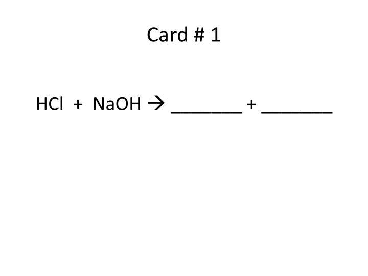 Card # 1