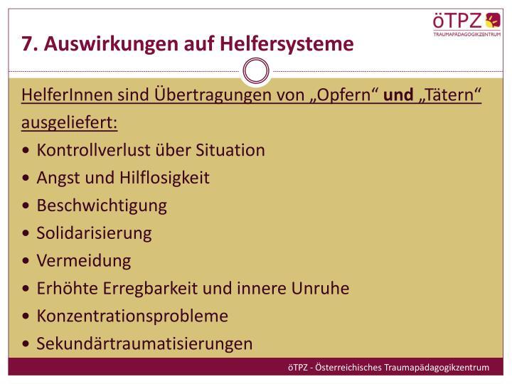 7. Auswirkungen auf Helfersysteme