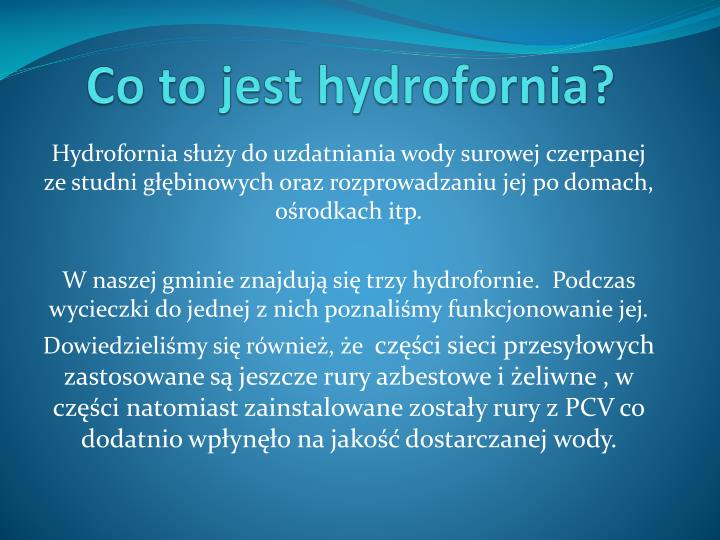 Co to jest hydrofornia?