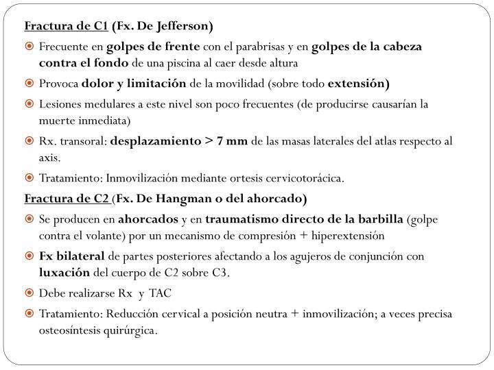 Fractura de C1
