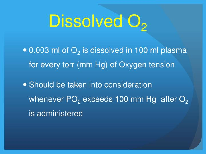 Dissolved O