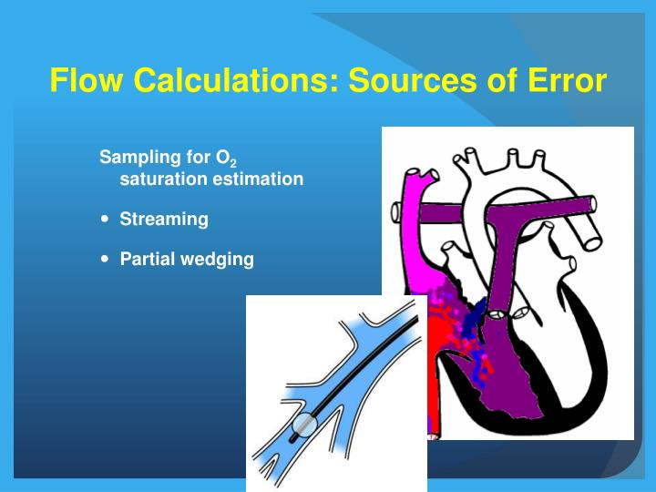 Flow Calculations: Sources of Error