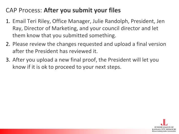 CAP Process: