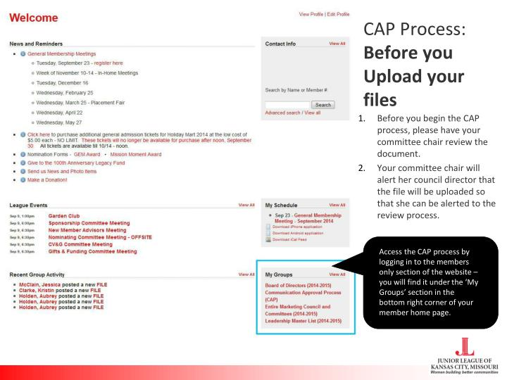 Cap process before you upload your files