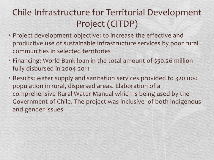 Chile Infrastructure for Territorial Development Project (CITDP)