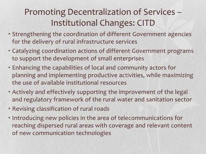 Promoting Decentralization of Services