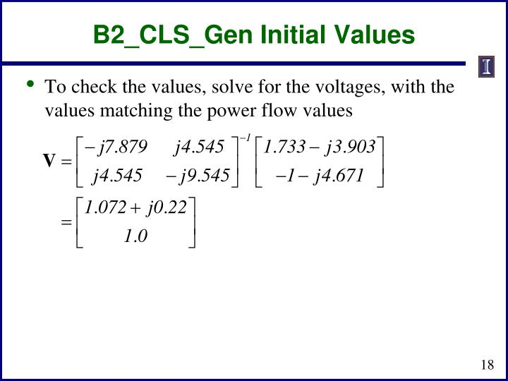 B2_CLS_Gen Initial Values