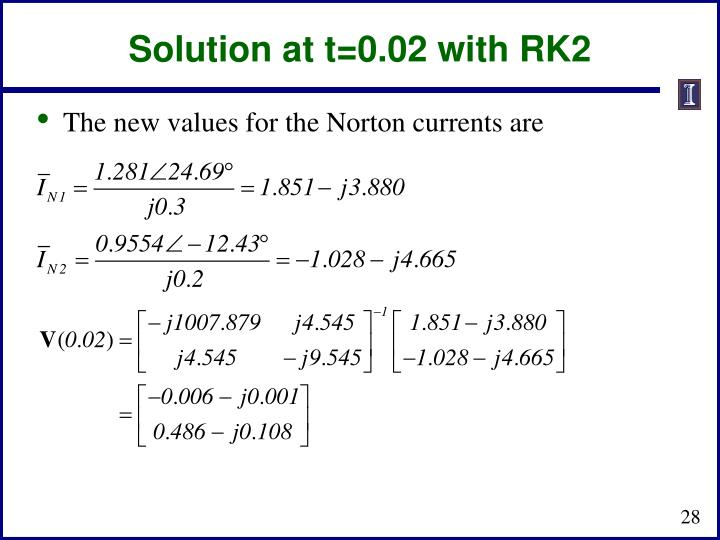 Solution at t=0.02 with RK2