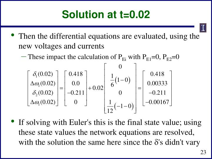 Solution at t=0.02
