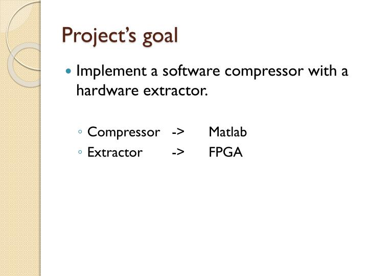 Project's goal