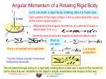 angular momentum of a rotating rigid body
