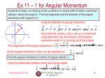 ex 11 1 for angular momentum
